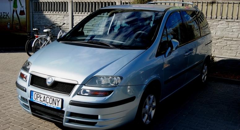 Fiat Ulysse 2.2JTD Emotion Pro Navigacja 7foteli Serwisowany z Niemiec Opłacony