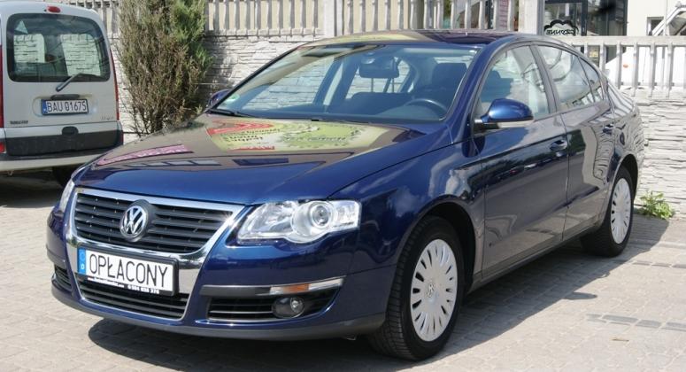 VW Passat B6 1.6 MPI Tempomat Grzane fotele z Niemiec Serwisowany Opłacony Gwarancja