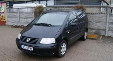 VW Sharan 1.8T czarny Famili 7 foteli