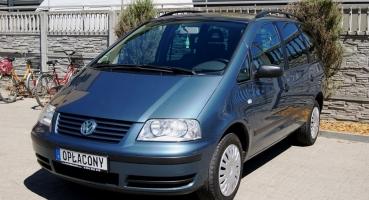 VW Sharan 1.8 Turbo 150KM Klimatronik Opłacony 7 Osobowy 2 Foteliki Dziecięce