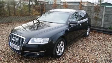 Audi A6 C6 2.4i GAZ LPG Manul Czarna w Chromach Alufelgi Serwisowana Opłacona