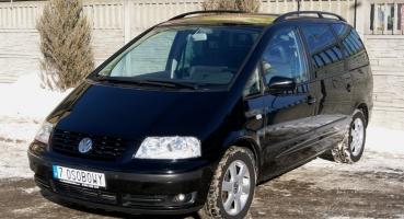 VW Sharan 1.8t Famili Carat Skóra Navi Xenon 7 osobowy