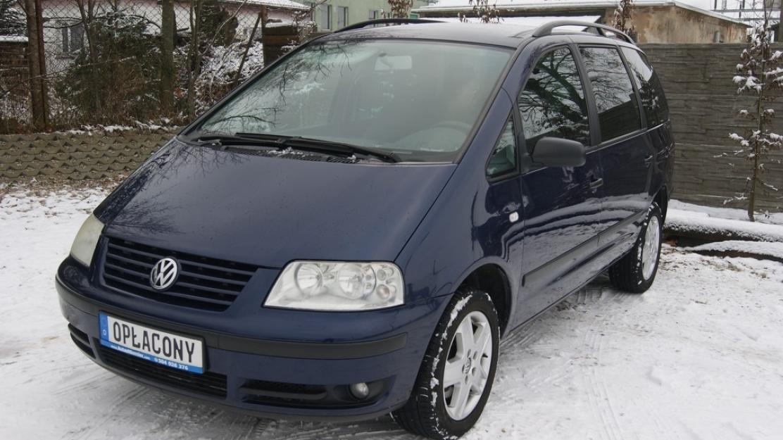 VW Sharan 1.9 TDI Kimatronik grzane fotelei i szyba przód Alufelgi HAK Opłacony Gwarancja