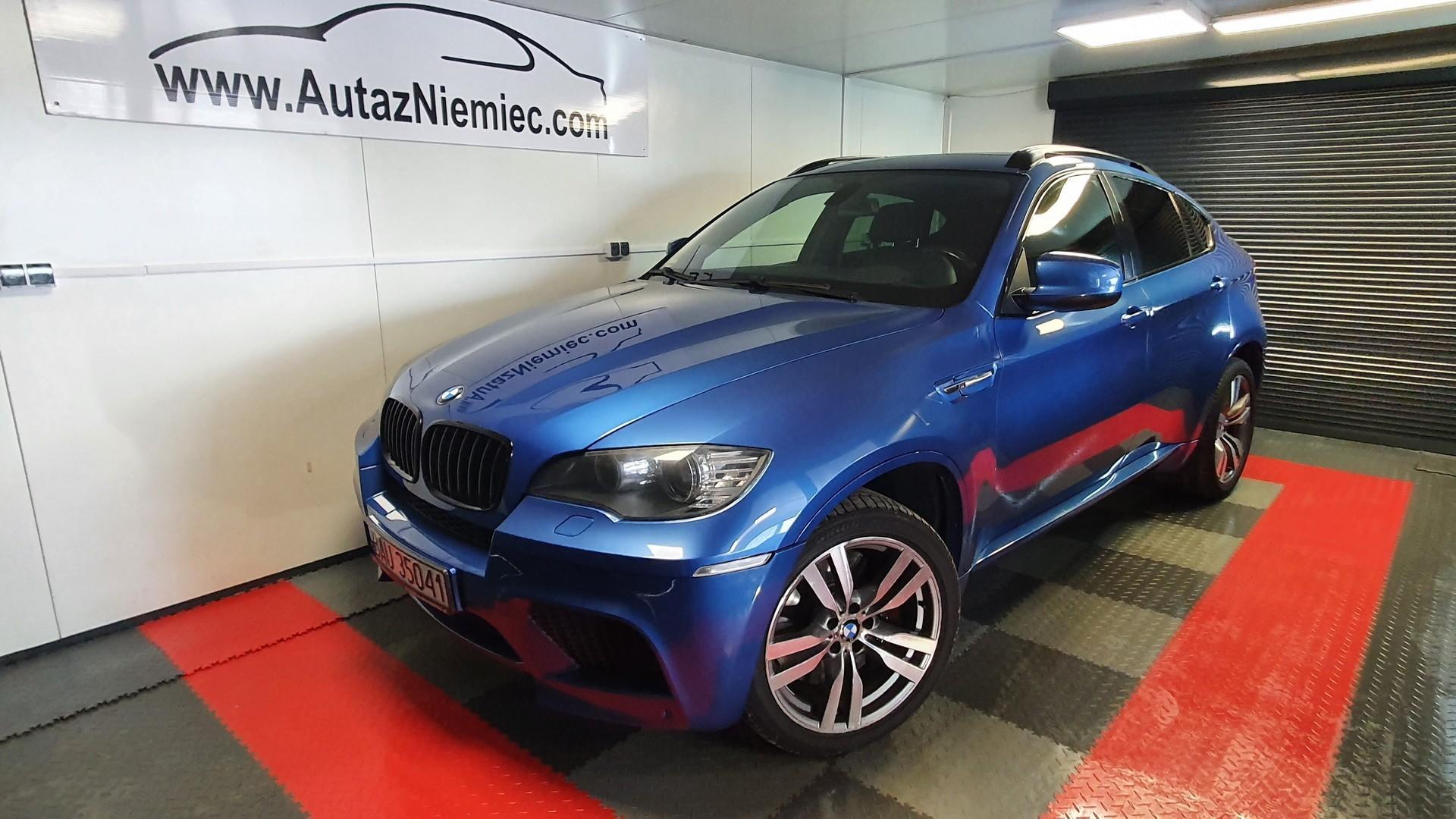 BMW X6M Monte Carlo Blau Metallic/ Czarna Skóra/ Nagłośnienie Hi End/ 3xKamera